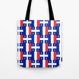 Mix of flag : France and Quebec Tote Bag