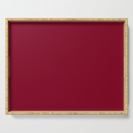 Burgundy Solid Color Serving Tray