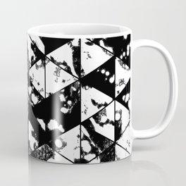 Splatter Triangles - Black and white, abstract, paint splat, triangular pattern Coffee Mug