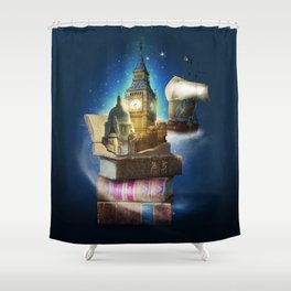 Stories from the second star Shower Curtain