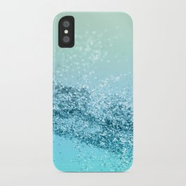 Seafoam Aqua Ocean MERMAID Girls Glitter #3 #shiny #decor #art #society6 iPhone Case