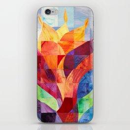 Fire (originally in quilted silk) iPhone Skin