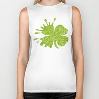 lime green Biker Tanks featuring Lime swirl by SqueakyAngel