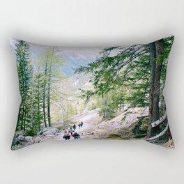 Hiking in Chamonix Rectangular Pillow