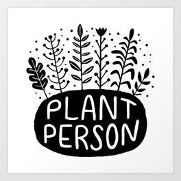 Plant Person Shrub Art Print