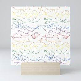 Gay Slugs Mini Art Print