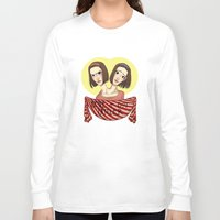 ahs Long Sleeve T-shirts featuring AHS Twins by Raygor