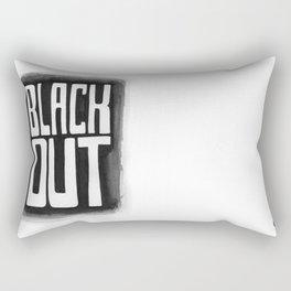 Black Out No.2 Rectangular Pillow