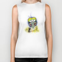 muppets Biker Tanks featuring Gonzo, The Muppets by KitschyPopShop