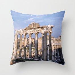 Roman Ruins - Vintage photography Throw Pillow