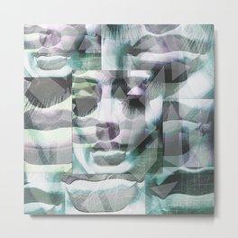 Geometric Facecs Metal Print
