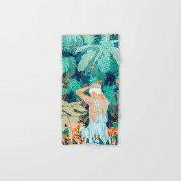 Backyard #illustration #painting Hand & Bath Towel