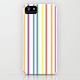 Solid Rainbow Mattress Ticking Wide Stripes Pattern iPhone Case