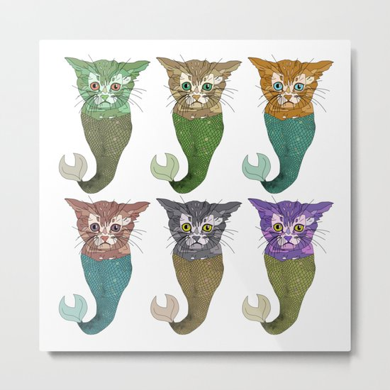Cat Fish Metal Print