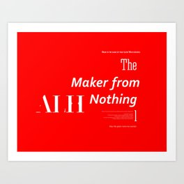 The Maker from Nothing Art Print