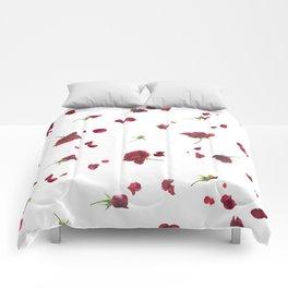 Dark Roses in Time Comforters