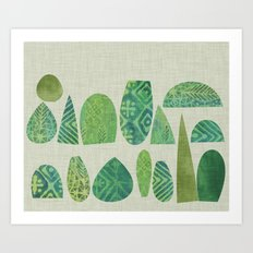 Watercolour Topiary Art Print