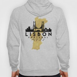 LISBON PORTUGAL SILHOUETTE SKYLINE MAP ART Hoody