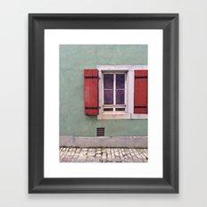 Red Shutters  Framed Art Print