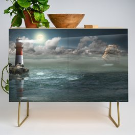 Lighthouse Under Back Light Credenza