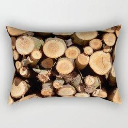 Woodpile Rectangular Pillow