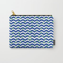 blue dotted waves Carry-All Pouch