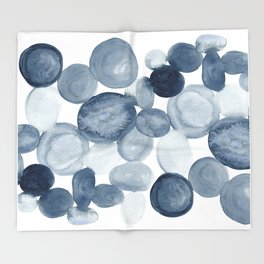 Pebbles Watercolor Abstract Throw Blanket