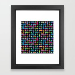 Funky Colour Mosaic Framed Art Print