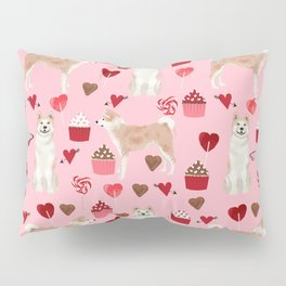 Akita valentines day cupcakes dog breed hearts pet portrait akitas pet friendly Pillow Sham