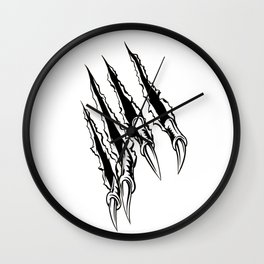 Tiger Claws Ripping Wall Clock