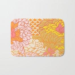 Zinnias - Warm Colors Bath Mat