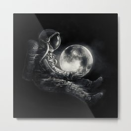 Moon Play Metal Print