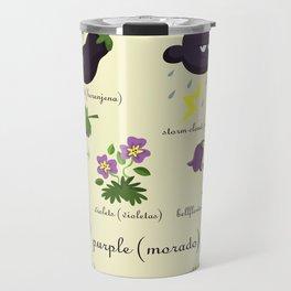 Colors: purple (Los colores: morado) Travel Mug