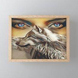 Spirit Of The Wolf Framed Mini Art Print