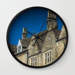 Antique Chimneys Cotswolds Market Square Skyline England Gloucestershire Wall Clock