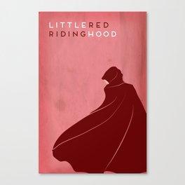 Little Red Riding Hood Minimalist Fairytales Canvas Print
