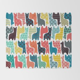 baby llamas Throw Blanket