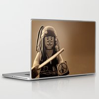 jack sparrow Laptop & iPad Skins featuring I am Captain Jack Sparrow by plopezjr