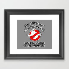 Who Ya Maybe Gonna Call? Framed Art Print