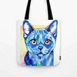 Cat - British Blue Portrait Tote Bag