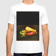 Peppers From a Friend, the painting MEDIUM White Mens Fitted Tee
