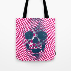 Op Art Skull #7 Tote Bag