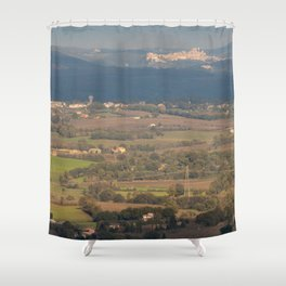 Italian countryside landscape Shower Curtain