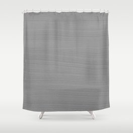 Soft Light Grey Brushstroke Texture Shower Curtain
