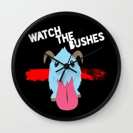 Watch the Bushes Wall Clock
