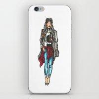 hip hop iPhone & iPod Skins featuring HIP-HIP-HOP by MorozovaMarie