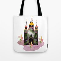 victorian Tote Bags featuring Victorian House by Estée Preda
