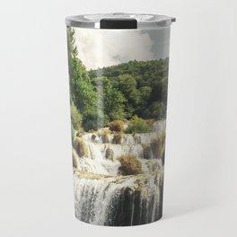 Krka National Park - waterfall Skradinski buk in Croatia Travel Mug