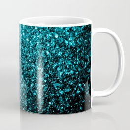 Beautiful Aqua blue glitter sparkles Coffee Mug