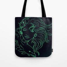 Lady on a Dolphin Tote Bag